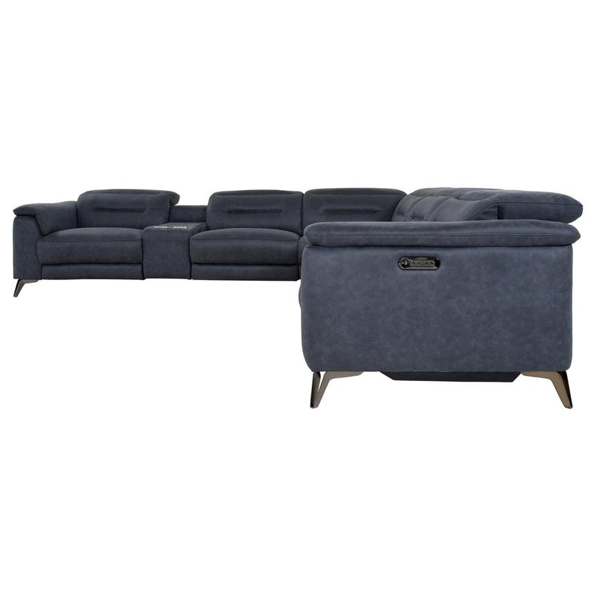 Claribel II Blue Power Reclining Sectional  alternate image, 3 of 12 images.