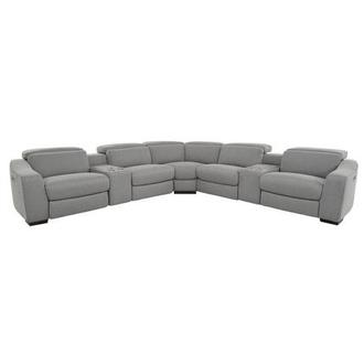Jameson Light Gray Power Reclining Sectional