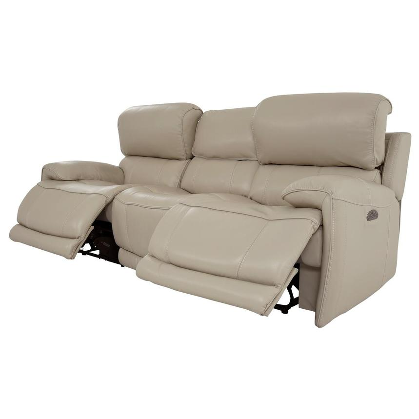 Cody Cream Leather Power Reclining Sofa  alternate image, 3 of 11 images.
