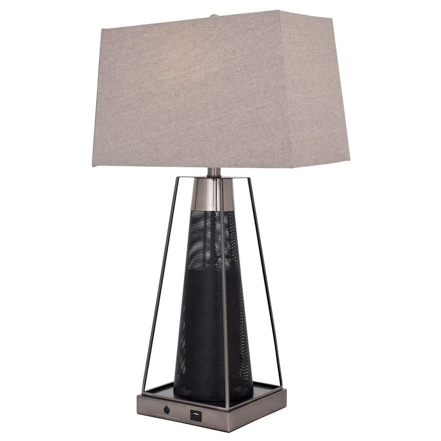 Alfredo Table Lamp w/Bluetooth Speaker  alternate image, 2 of 5 images.