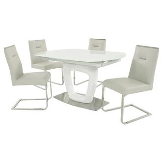 Giuli/Stina White 5-Piece Dining Set