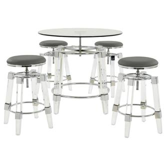 Julie Gray 5-Piece Casual Dining Set