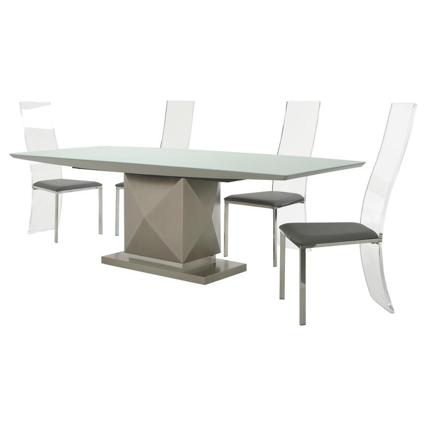 Marlon/Layra Gray 5-Piece Formal Dining Set  alternate image, 2 of 14 images.