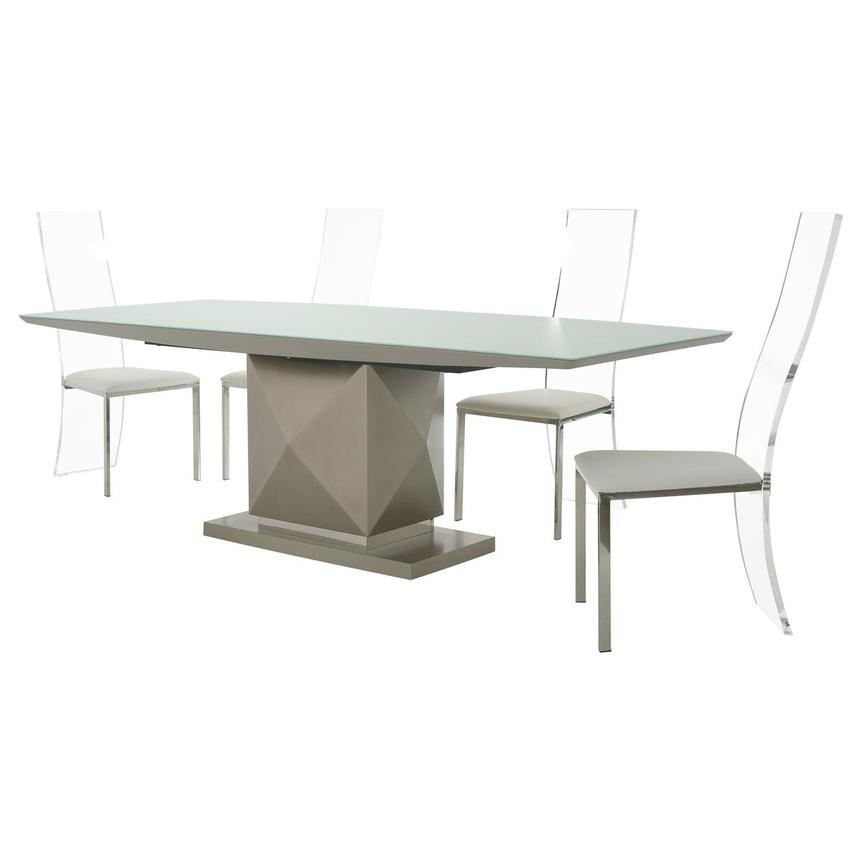 Marlon/Layra White 5-Piece Formal Dining Set  alternate image, 2 of 14 images.