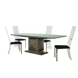 Marlon/Layra Gray 5-Piece Formal Dining Set