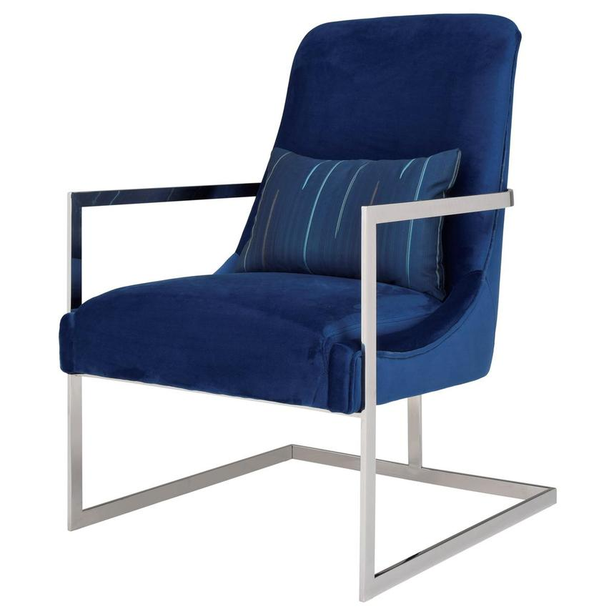 Dimitra Blue Accent Chair  alternate image, 3 of 8 images.