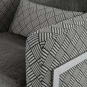Linear Accent Chair  alternate image, 6 of 7 images.
