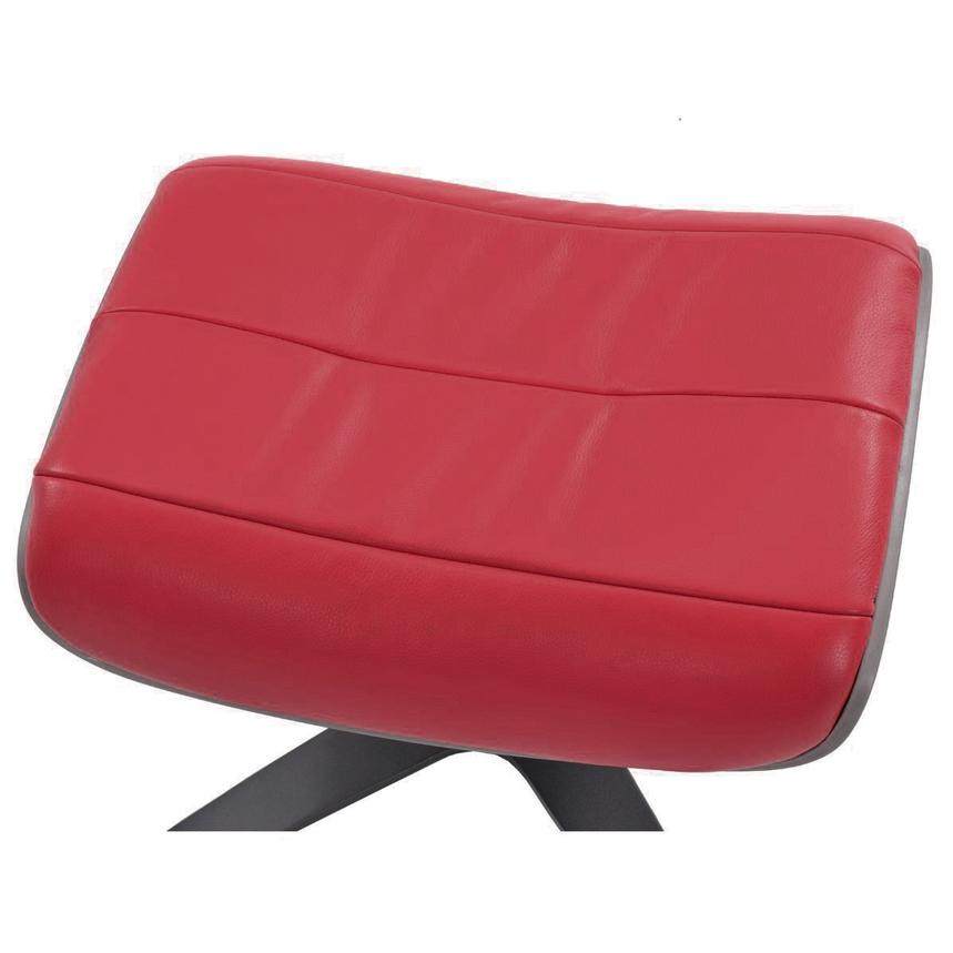 Enzo II Red Leather Ottoman  alternate image, 2 of 4 images.