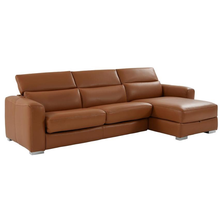 Bay Harbor Tan Leather Sleeper W Storage El Dorado Furniture