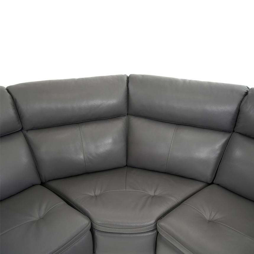 Matteo Gray Power Motion Leather Sofa w/Right & Left Recliners  alternate image, 8 of 10 images.