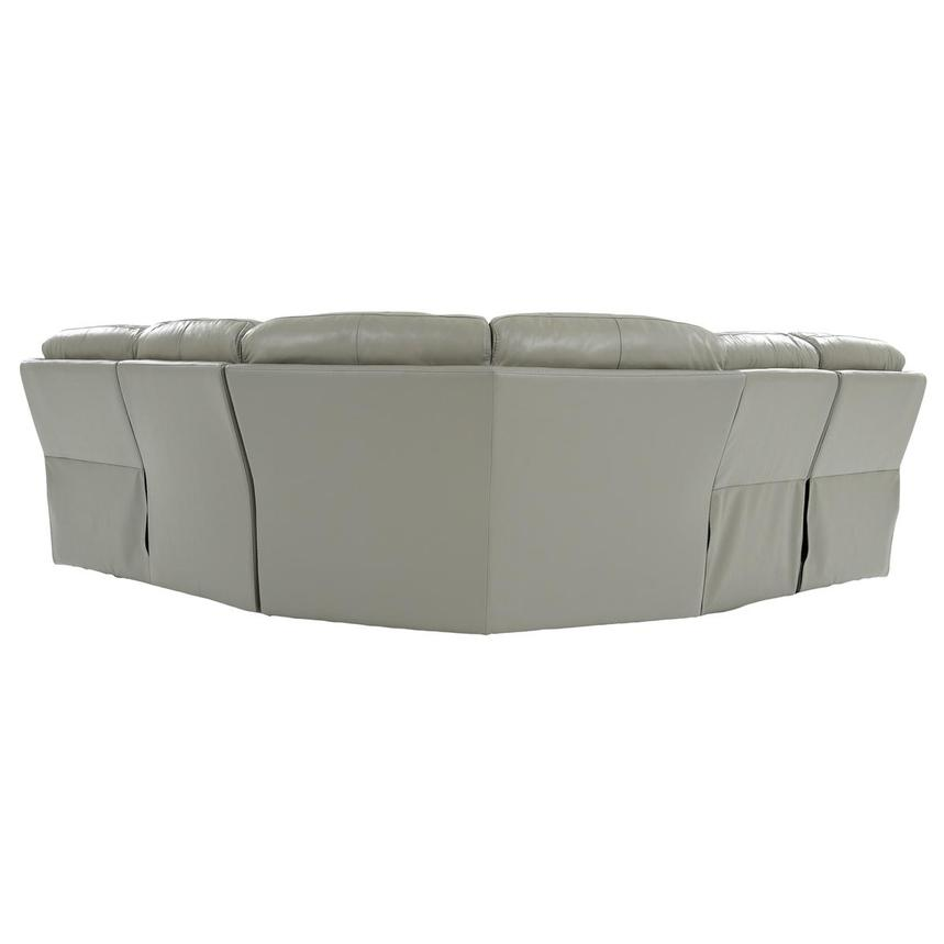 Ronald 2.0 Gray Leather Power Reclining Sectional  alternate image, 4 of 8 images.