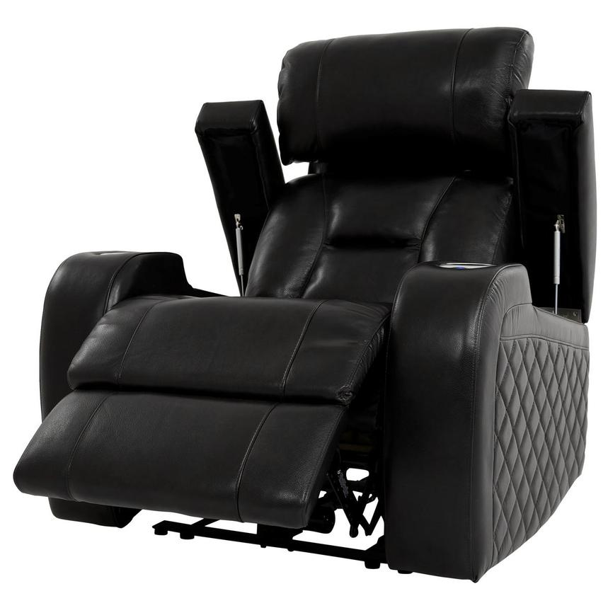 Gio Black Power Motion Leather Recliner  alternate image, 3 of 12 images.