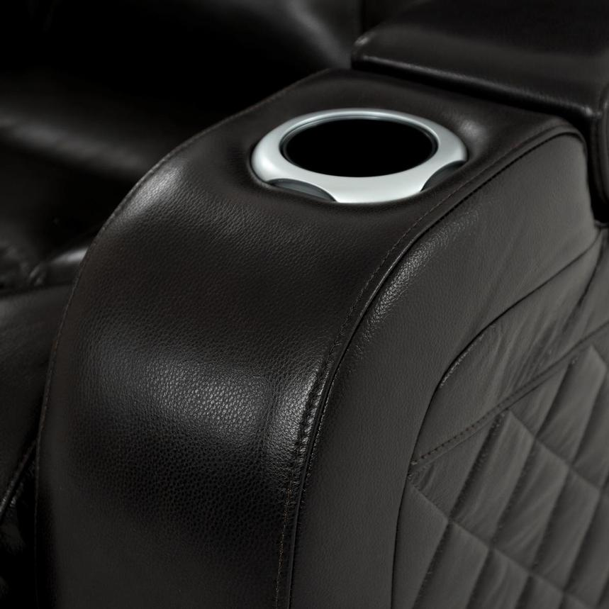 Gio Black Leather Power Reclining Sofa  alternate image, 8 of 18 images.