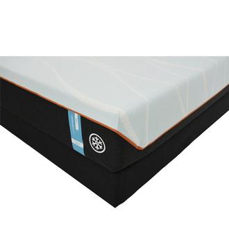 Luxe-Breeze Firm Queen Mattress w/Low Foundation by Tempur-Pedic