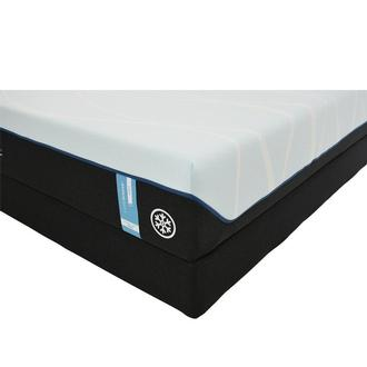 Luxe-Breeze Soft Queen Mattress w/Low Foundation by Tempur-Pedic