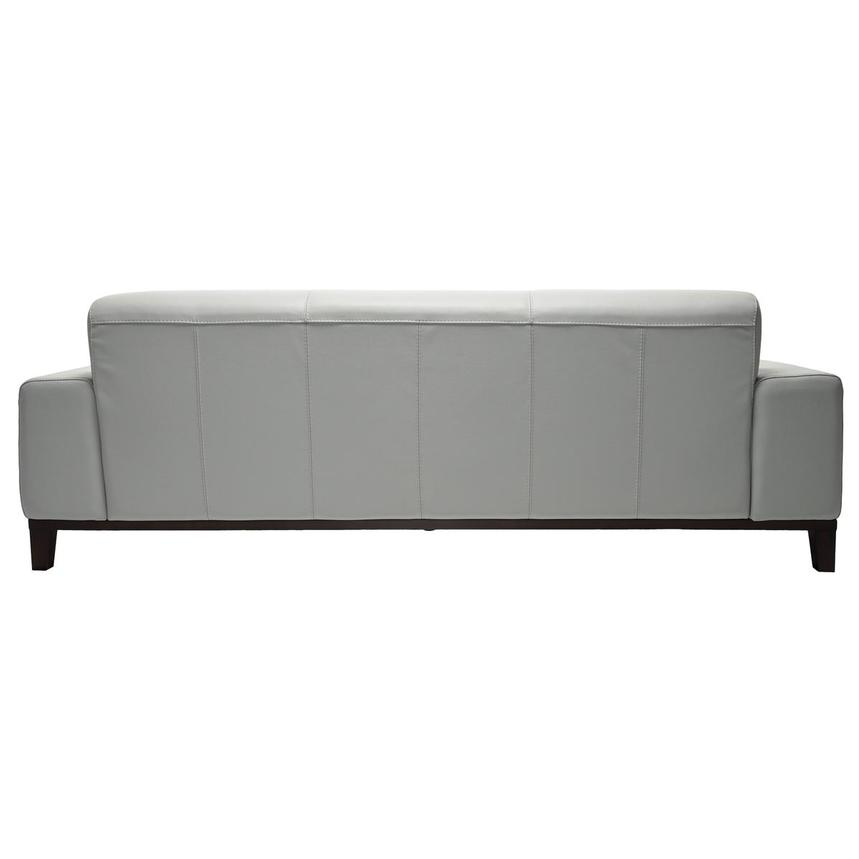 Milani Gray Leather Sofa  alternate image, 4 of 8 images.