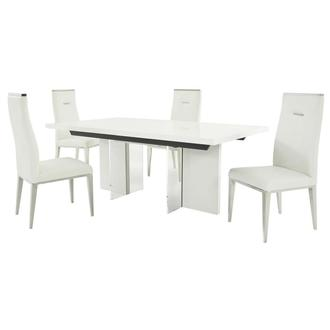 Siena/Hyde White 5-Piece Formal Dining Set