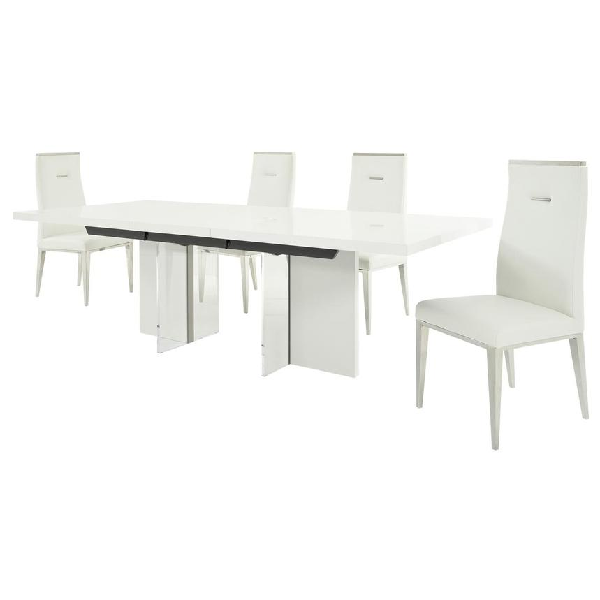 Siena/Hyde White 5-Piece Formal Dining Set  alternate image, 2 of 15 images.