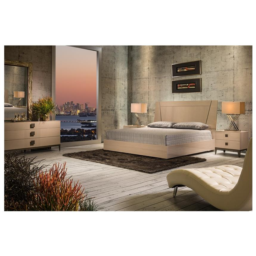 Mont Blanc Gray 6-Piece King Bedroom Set Made in Italy  alternate image, 2 of 7 images.