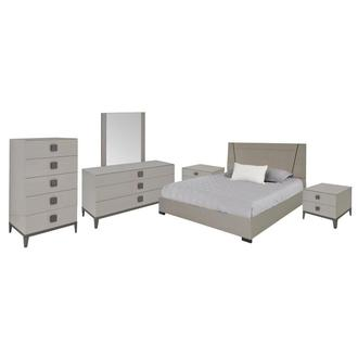 Mont Blanc Gray 6-Piece Queen Bedroom Set