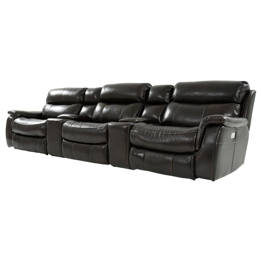 Jeremi Home Theater Leather Seating  alternate image, 2 of 10 images.