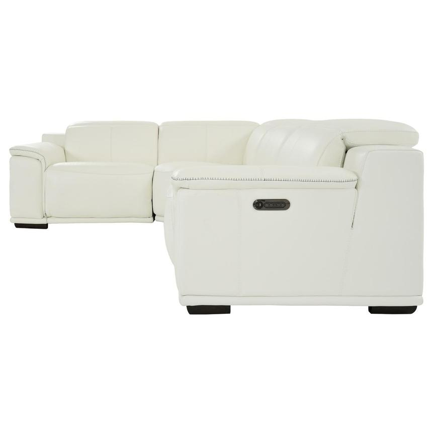 Davis 2.0 White Leather Power Reclining Sectional  alternate image, 3 of 10 images.