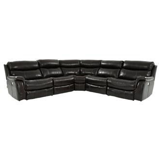 Jeremi Power Motion Leather Sofa w/Right & Left Recliners