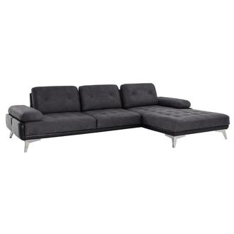 Pralin II Gray Corner Sofa w/Right Chaise