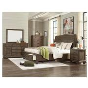 Hamilton Brown 4-Piece Queen Bedroom Set  alternate image, 2 of 6 images.