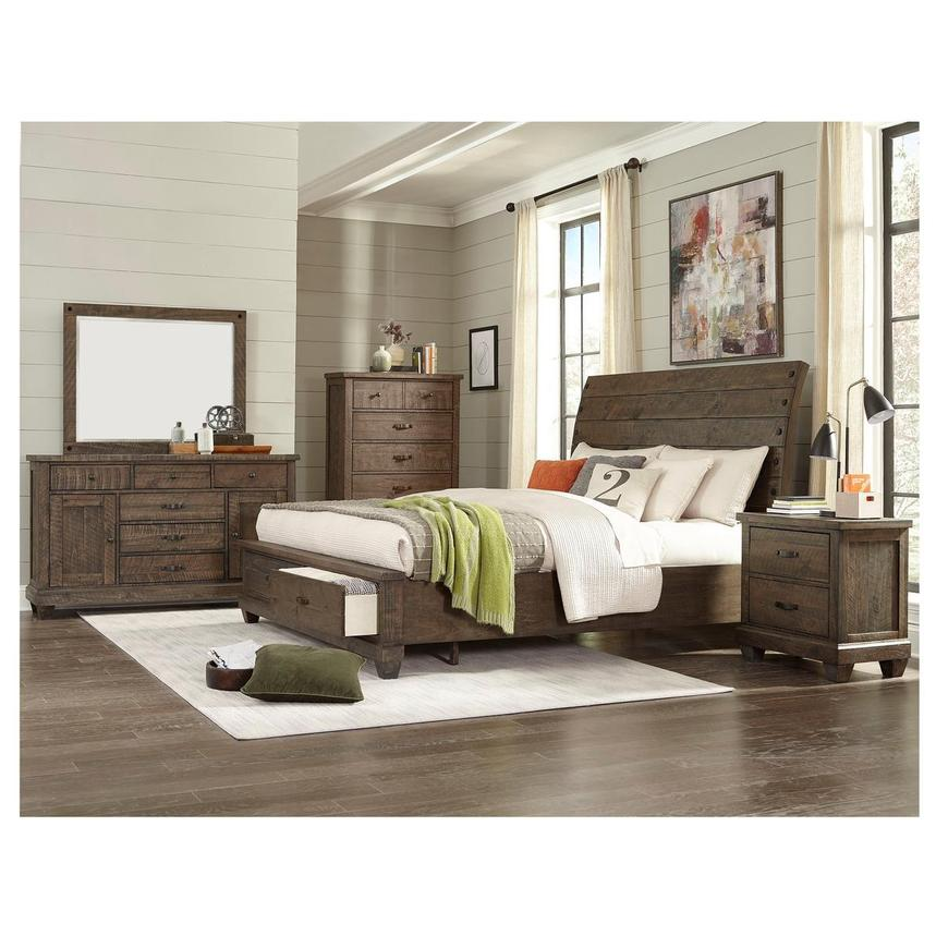 Hamilton Brown 4-Piece King Bedroom Set  alternate image, 2 of 6 images.