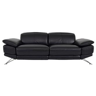 Toronto II Black Leather Power Reclining Sofa