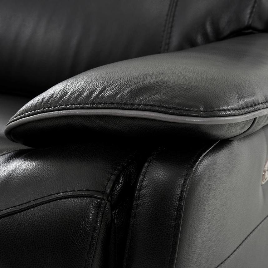 Austin Black Leather Power Reclining Sectional  alternate image, 7 of 8 images.