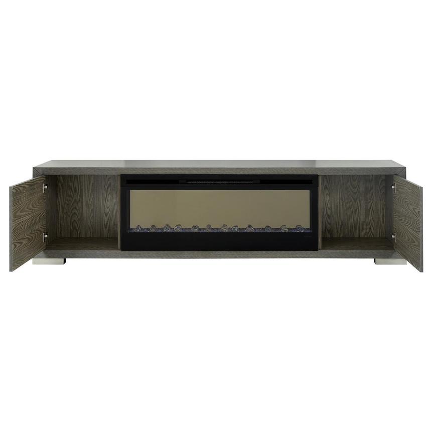 Tremendous Rialto Gray Faux Fireplace W Remote Control Machost Co Dining Chair Design Ideas Machostcouk