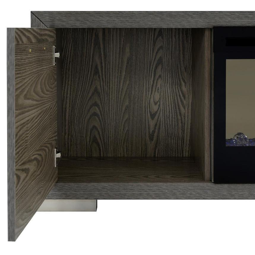 Wondrous Rialto Gray Faux Fireplace W Remote Control Machost Co Dining Chair Design Ideas Machostcouk