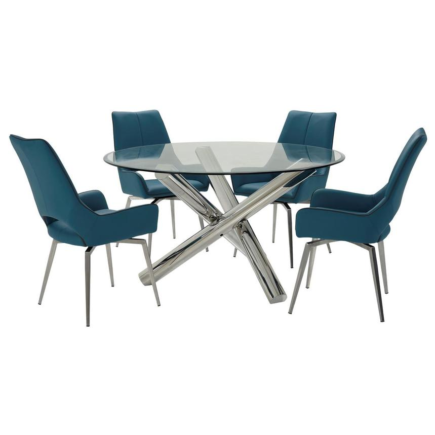 Addison II/Kalia Brown 5-Piece Dining Set  main image, 1 of 11 images.