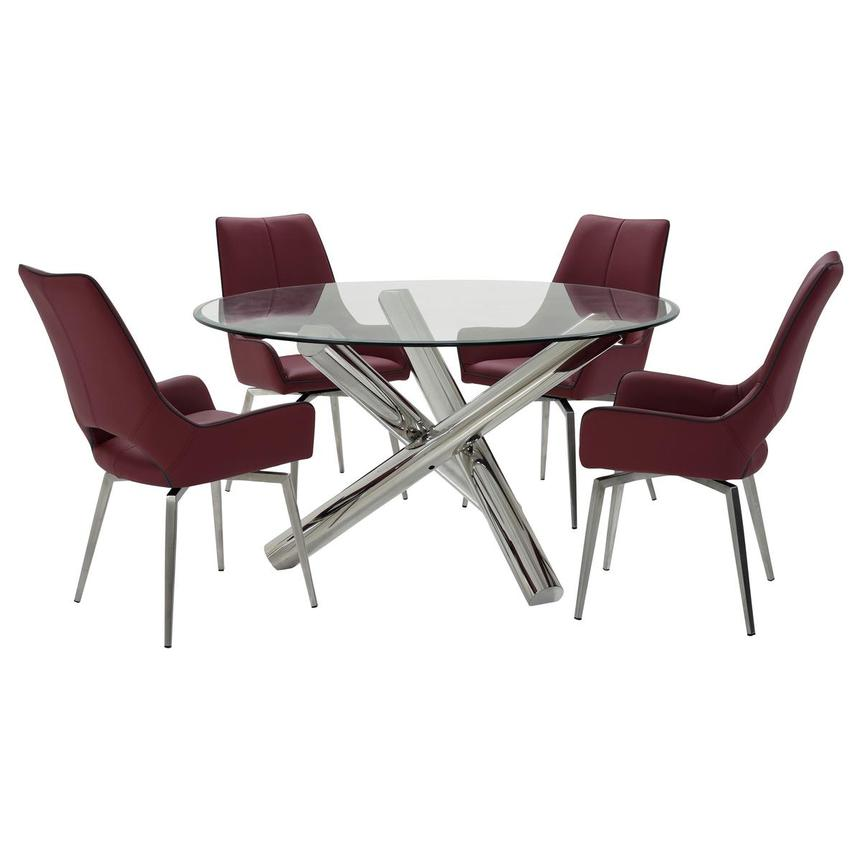 Addison II/Kalia Red 5-Piece Dining Set  main image, 1 of 11 images.