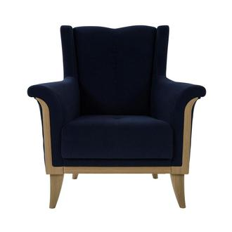 Zirve Blue Accent Chair