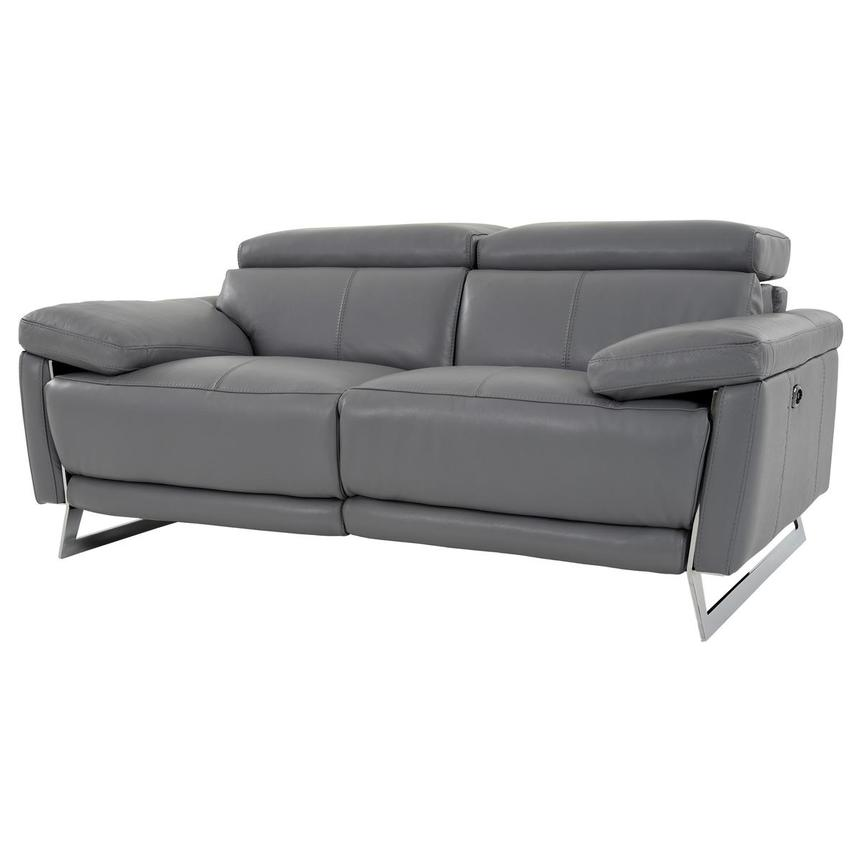 Gabrielle Leather Power Reclining Loveseat  alternate image, 2 of 11 images.