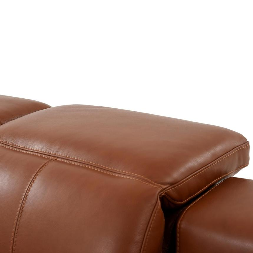 Katherine Tan Leather Power Reclining Loveseat  alternate image, 7 of 10 images.