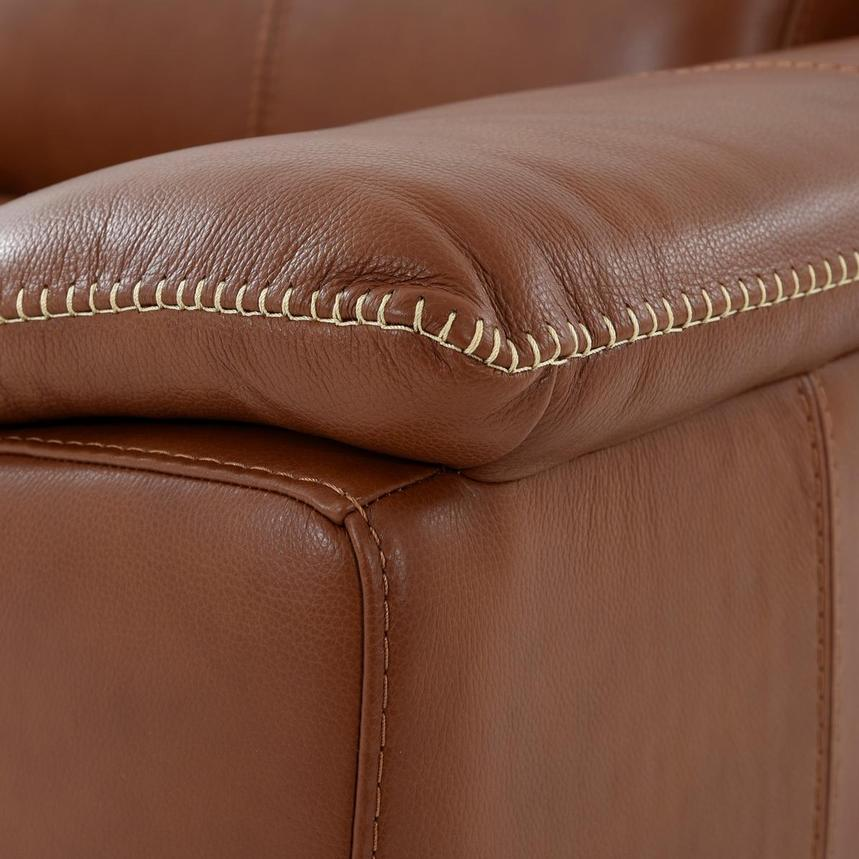 Katherine Tan Leather Power Reclining Loveseat  alternate image, 8 of 12 images.