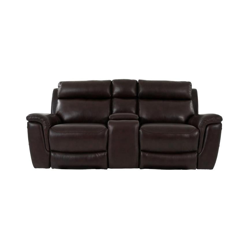 Bronco Leather Power Reclining Sofa w/Console  main image, 1 of 12 images.