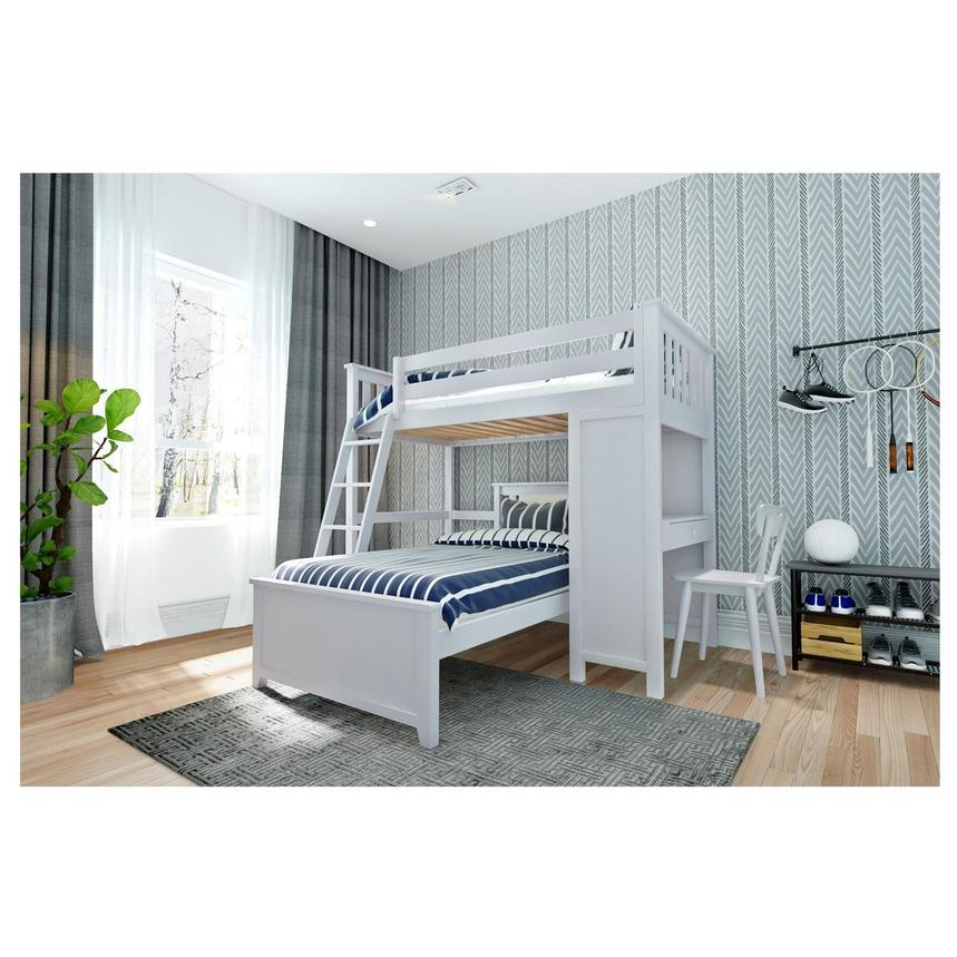 Haus White Twin Over Twin Bunk Bed w/Desk  alternate image, 2 of 2 images.
