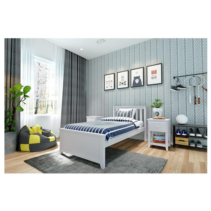 Haus White Twin Panel Bed  alternate image, 2 of 6 images.