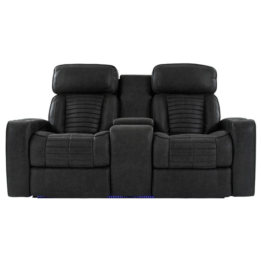 Tim Power Reclining Sofa w/Console  main image, 1 of 13 images.