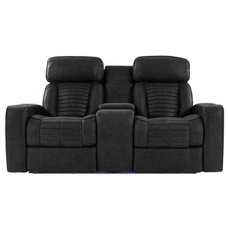 Tim Power Reclining Sofa w/Console