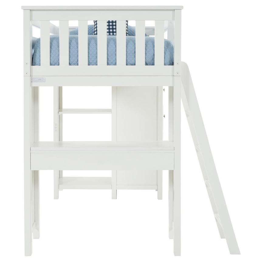 Haus White Twin Loft Bed w/Desk & Chest  alternate image, 7 of 15 images.