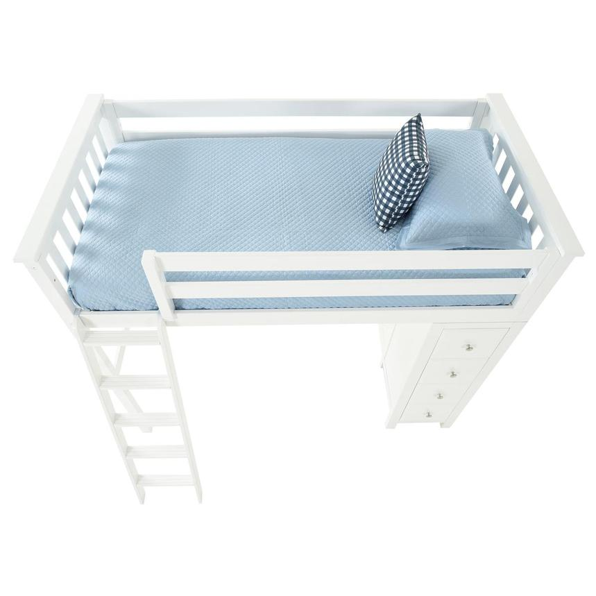 Haus White Twin Loft Bed w/Chest  alternate image, 7 of 13 images.