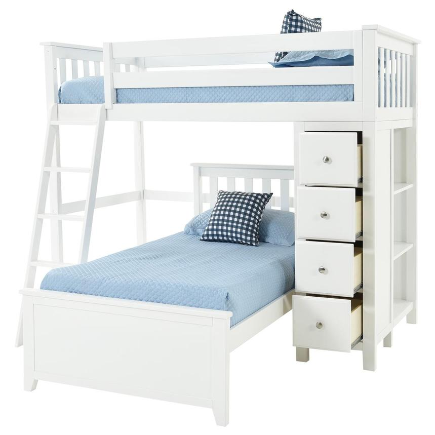 Haus White Twin Over Twin Bunk Bed w/Chest  alternate image, 2 of 9 images.