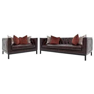 Sophia Burgundy Living Room Set