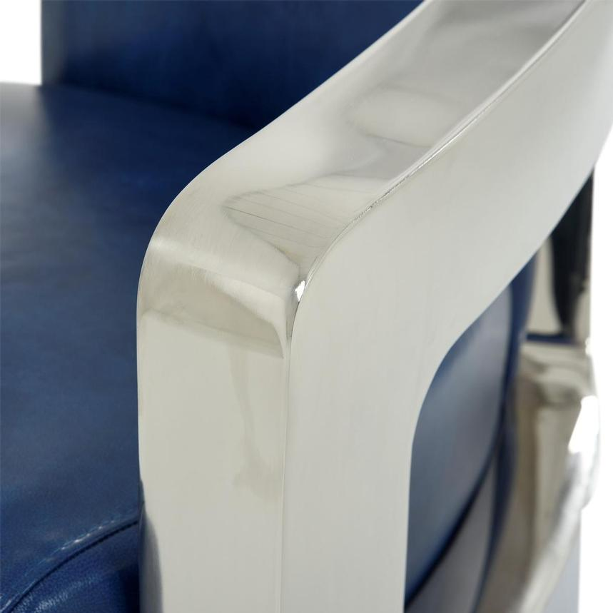 Aviator II Blue Leather Accent Chair  alternate image, 8 of 9 images.